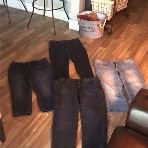 Blue jeans size 18 and one size is 16